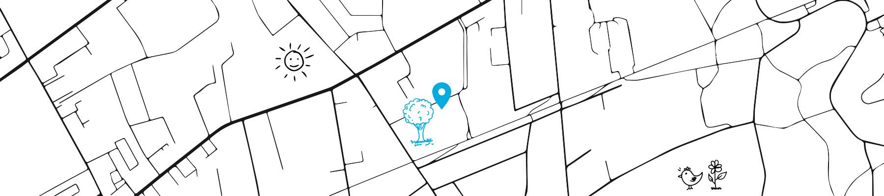 Stadtplan der Erlenschule